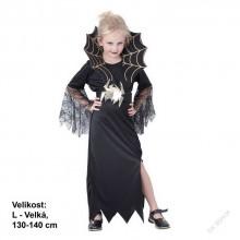 Dětský karnevalový kostým ČERNÁ VDOVA 130 - 140cm ( 9 - 12 let )